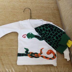 Gymboree Lizard Sleepwear Snakes Two-Piece Gymmies